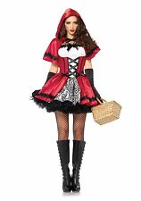 New Adult Ladies Little Red Riding Hood Fancy Dress Fairytale Halloween Costume