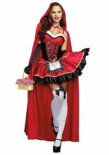 8 10 12 14Little Red Riding Hood Fairytale Cosplay Fancy Dress Halloween Costume