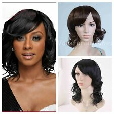 Sexy Europe Women Fashion Girl Brown/Black Cosplay Short Curly Wave Hair wigs