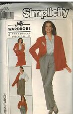 7810 UNCUT Vintage Simplicity Sewing Pattern Misses Blouse Skirt Pants Jacket FF