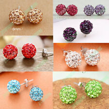 1 pair New Women Fashion Jewelry Crystal Rhinestone Beads Studs Earrings