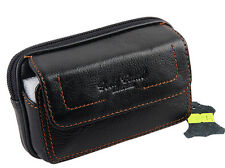 Men Genuine Leather Cell Phone Case Cover  Belt Pouch Purse Fanny Pack Waist Bag