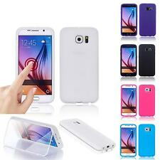Flip TPU Full View Touch Case Silicone Cover Wallet Gel Skin Display Protector