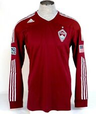 Adidas ClimaCool Formotion MLS Colorado Rapids Burgundy Long Sleeve Jersey Mens