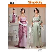 SIMPLICITY SEWING PATTERN MISSES' Edwardian Dress COSTUME  SIZE 6 - 22 1517