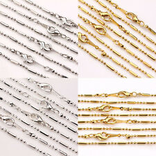 New 2/10Pcs Lobster Clasp 18KGP Copper Length Necklace Chain Jewelry 43CM Lots