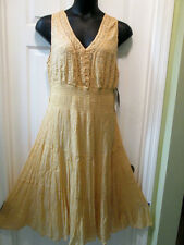 NEW Mlle Gabrielle Boho Gypsy Dress Sundress SIZES 2x 3x Gold/Tan 16 18 20 22