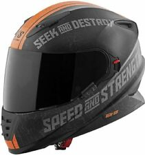 Speed and Strength  SS1600 Cruise Missile Matte Orange  Full Face Clear Shield