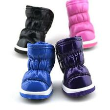 Pet Small Dog Cat Ruffled Soft PU Leather Shoes Furry Warm Booties Boots Shoes