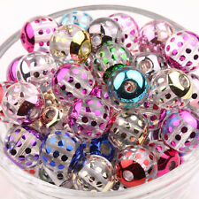 Lots 10/50Pcs Mixed Acrylic Carved Dot Loose Spacer Beads Jewelry Findings 12MM