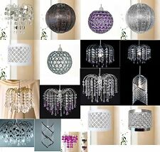 Modern Chandelier Style Ceiling Light Shade Droplet Pendant Acrylic Crystal Bead