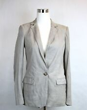 $3300 NEW Authentic Gucci Womens Suede Jacket Blazer, Light Gray, 340441 9601