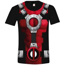 Marvel Comics T-Shirt Deadpool Costume (schwarz)