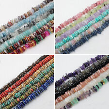 7-15mm Natural Stone/Quartz Freeform Rondelle Loose Beads 15""