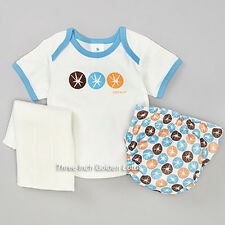 PERFECT BUM 4-PC~Cloth DIAPER Cover+Prefold Insert+Booster Pad Liner+Tee~Small