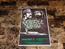 Cheech & Chong Rare Authentic Hand Signed Concert Show Gig Poster Tommy & Marin