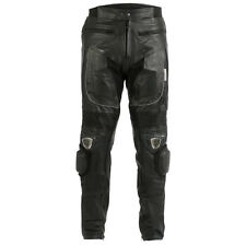 Black Motorcycle / Motorbike Leather Jeans / Trousers + CE Armour to knee & hips