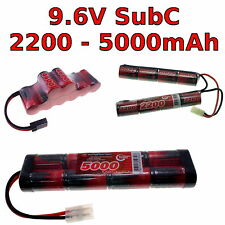 9.6V 2200-5000mAh SubC SC Premium Racing RC NiMh battery pack + custom connector