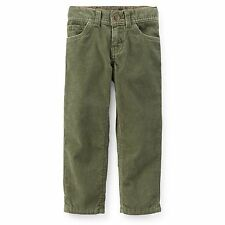 Carter's Boys' Classic 5-Pocket Corduroy Pants (55% off ) olive green