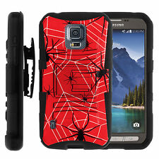 FOR SAMSUNG GALAXY PHONES HEAVY DUTY CASE COVER CLIP HOLSTER Red Spider Hero Man