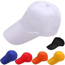 New Plain Fitted Baseball Cap Curved Visor Solid Blank Color Flat Basic Hat