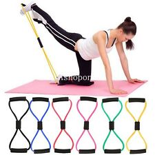 Fitness Resistance Loop Stretch Band Tube For Yoga Pilates Gym Workout Exercise
