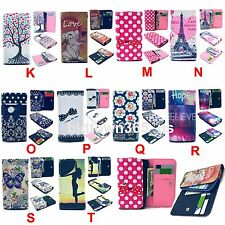 1pc Luxury Clip Button PU Premium Leather Card Slots Case Cover For CelePhones
