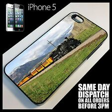 Coque Pour iPhone 5s Trainspotting steam Train engine Image étui Téléphone +6134