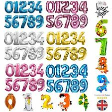 "40"" Giant Foil Number Balloons Helium Large Happy Birthday Party 0 - 9  ML"