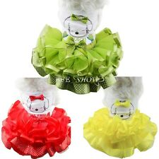 Pet Dog Supplies Dog Pattern TUTU Dress Bubble Skirt Small Dog Clothes Clothing