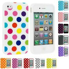 Polka Dot TPU Color Rubber Skin Case Cover Accessory for Apple iPhone 4 4S 4G
