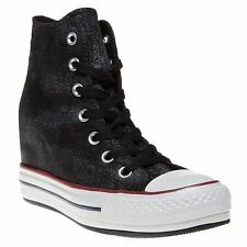 NEW CONVERSE CT CHUCK TAYLOR PLATFORM PLUS HI Hidden Wedge WOMENS 9 Black