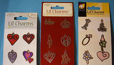 NEW HEARTS, LOVE or WEDDING LIL' CHARMS Heart Bridal  * Your Choice Design * ATD
