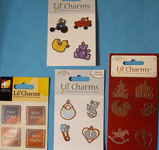 NEW BABY, BABY FIRSTS,TOYS LIL' CHARMS Teddy Rattle * Your Choice Design * ATD