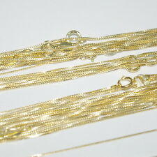 "WHOLESALE LOTS Gold Plated 925 Sterling Silver Italian BOX 012 Chains 16.5"" 18"""