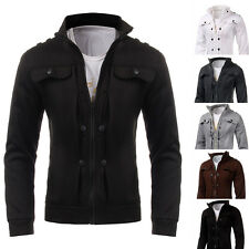 New Fashion Men's Slim Fit Stand Collar Casual Jacket Coat Tops Outwear S M L