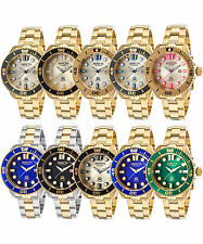 Women's INVICTA Pro Diver 38mm Stainless Steel Gold Plated Watch