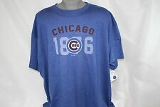 NEW Mens MAJESTIC Chicago Cubs 1876 MLB Blue MLB Big & Tall Baseball T-Shirt