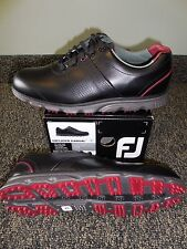NEW FootJoy DRYJOYS CASUAL Golf Shoes, BLACK/RED, Style 53577, PICK A SIZE