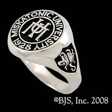 H.P. Lovecraft MISKATONIC UNIVERSITY CLASS RING, Sterling Silver, Cthulhu 1928