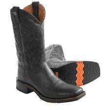 Harley Davidson Stockwell Mens Motorcycle Cowboy Boots Medium D Width Black