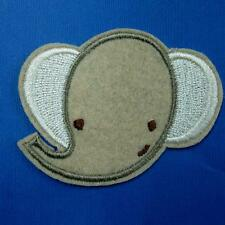 Elephant Nose Iron on Sew Patch Cute Applique Badge Embroidered Animal Motif