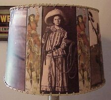 """Cowgirl Lamp Shade, 8"""" x 10"""" Small Clip Top, Western Decor"""
