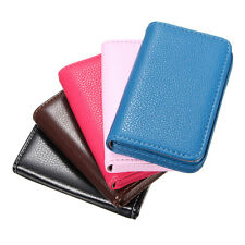 New Pocket Leather Business Credit ID Card Holder Wallet Storage Pocket Case