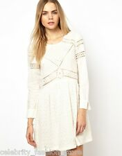 BA&SH Asos Designer Ivory Cut Work Broderie Lace Cheesecloth Dress 2 10 38 £220