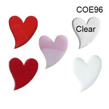 SPECTRUM COE 96 HEARTS Fusible Glass CHOICE Fusing & Mosaic Supplies