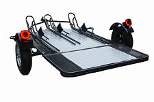 New Motorcycle Utility Trailer 3 Rail Foldable ATV Used for Harley Gold Wing