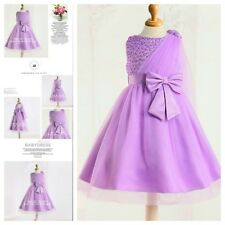 PU8910 Purples Princess Wedding Dance Party Flower Girls Dresses AGE 1 to 12Year