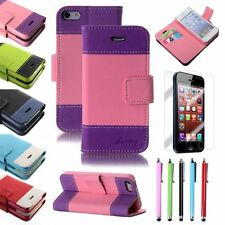 Luxury Leather Flip Magnetic Wallet Credit Card Cover Case For Apple iPhone 5 5S