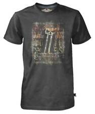 Harley-Davidson Men's Black Label T-Shirt, Distressed Brick Wall #1 Skull, Black